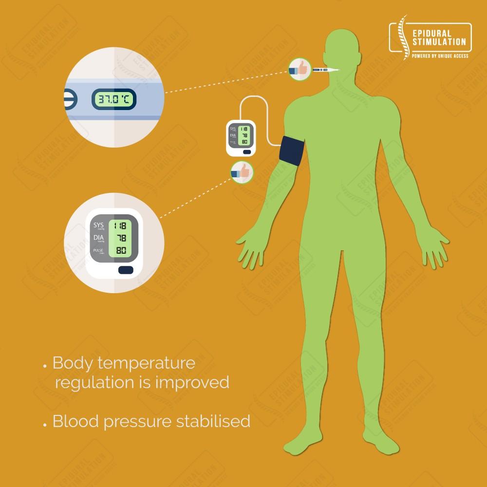 Improvement Body Temperature Regulation - Epidural Stimulation