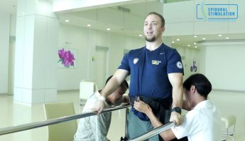 American C7 Spinal Cord Injury Patient Jesse Stands with Little Assistance After Epidural Stimulation